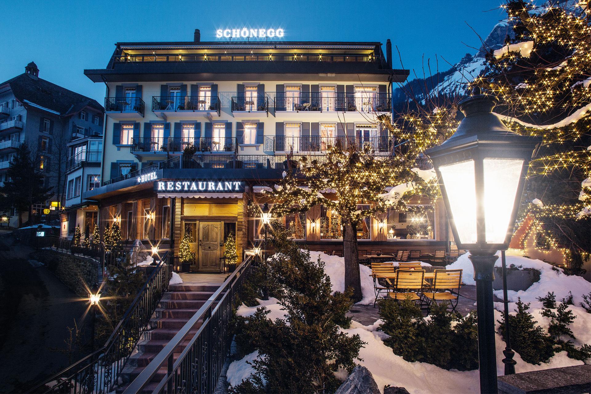 Hotel Schoenegg Wengen Restaurant